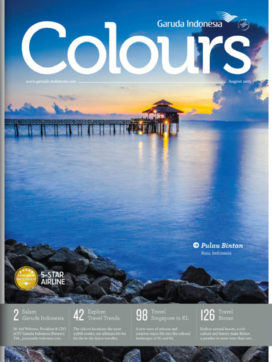 Colours - Inflight Magazine by Garuda Indonesia,Indonesia Airline5th August, 2015