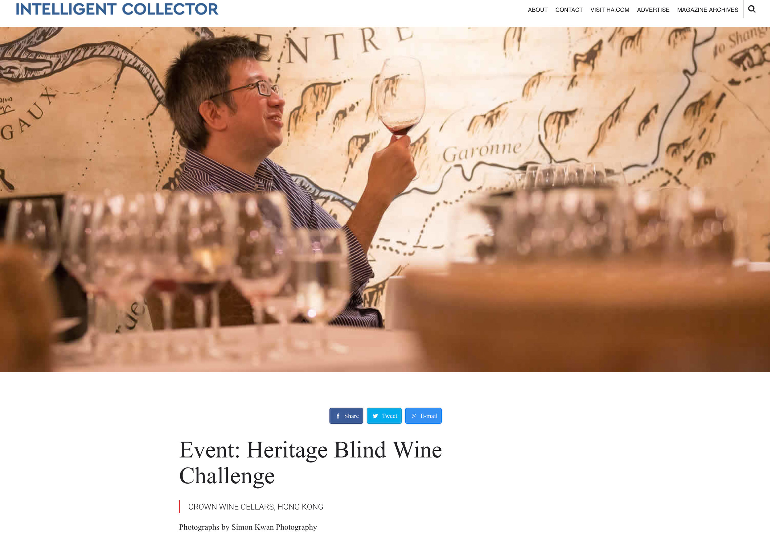 Heritage Blind Wine Challenge - Organised by Heritage Auctions14th September, 2016