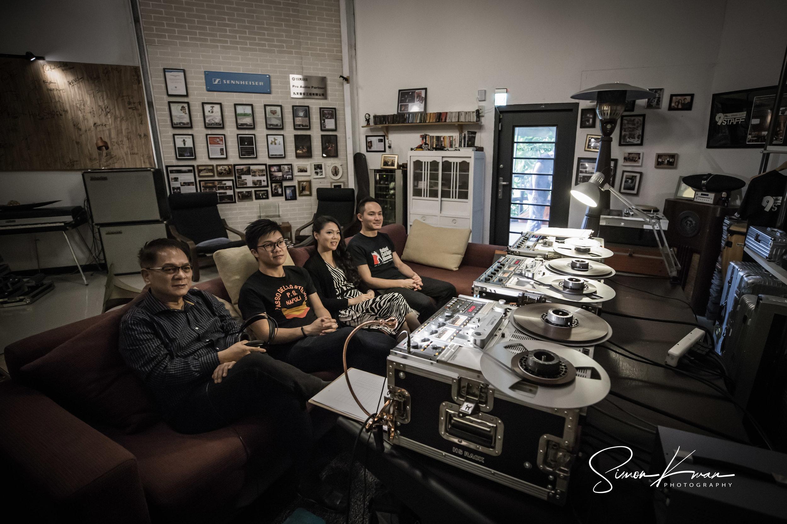 Album Recording Session Day 2 - Nine Tai Studio, Taipei23rd July, 2018