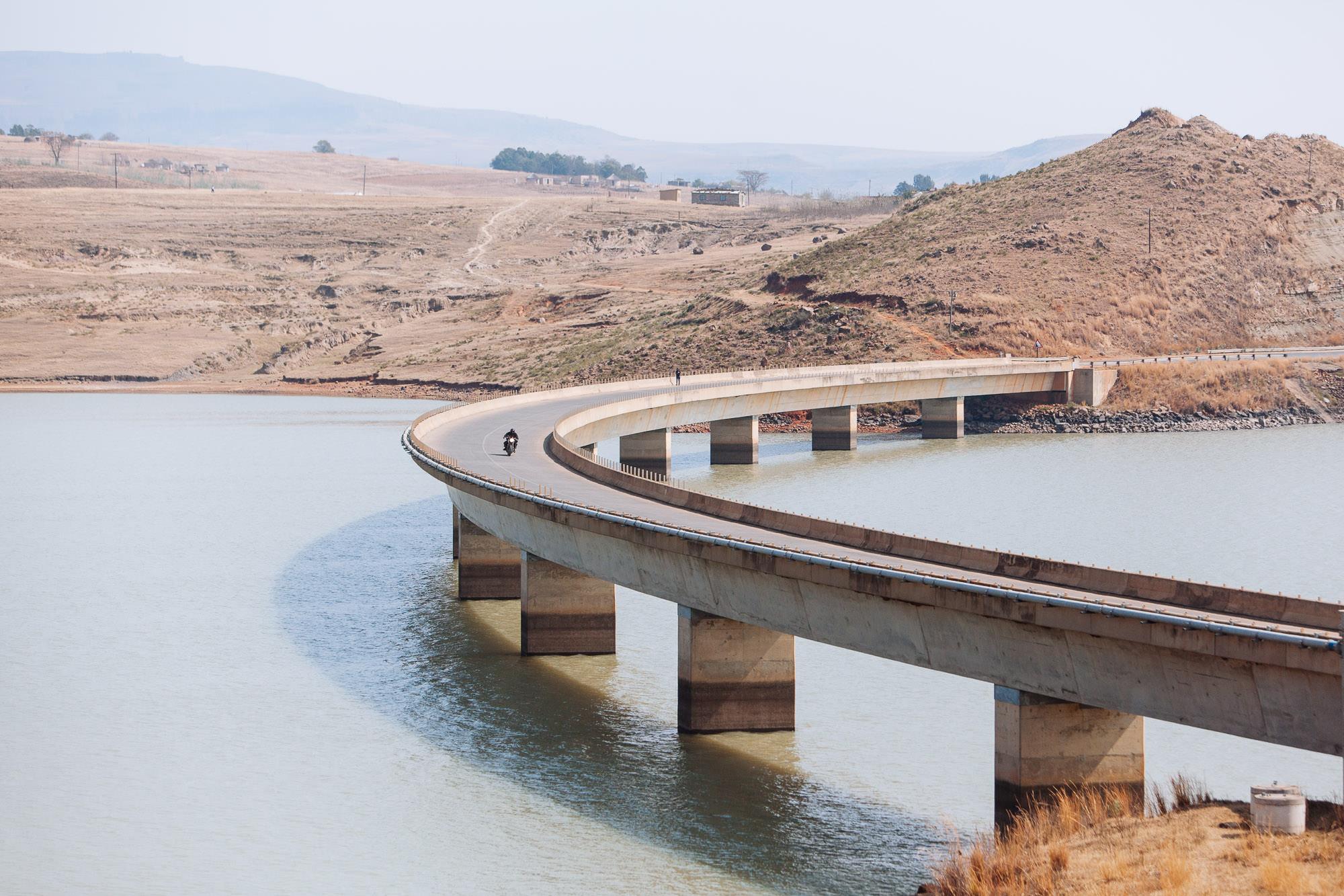 Crossing the Woodstock Dam