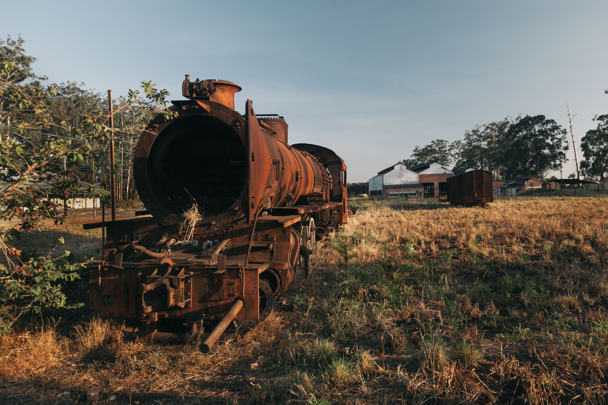 An abandoned steam train left from the colonial times at Mutshatsha.