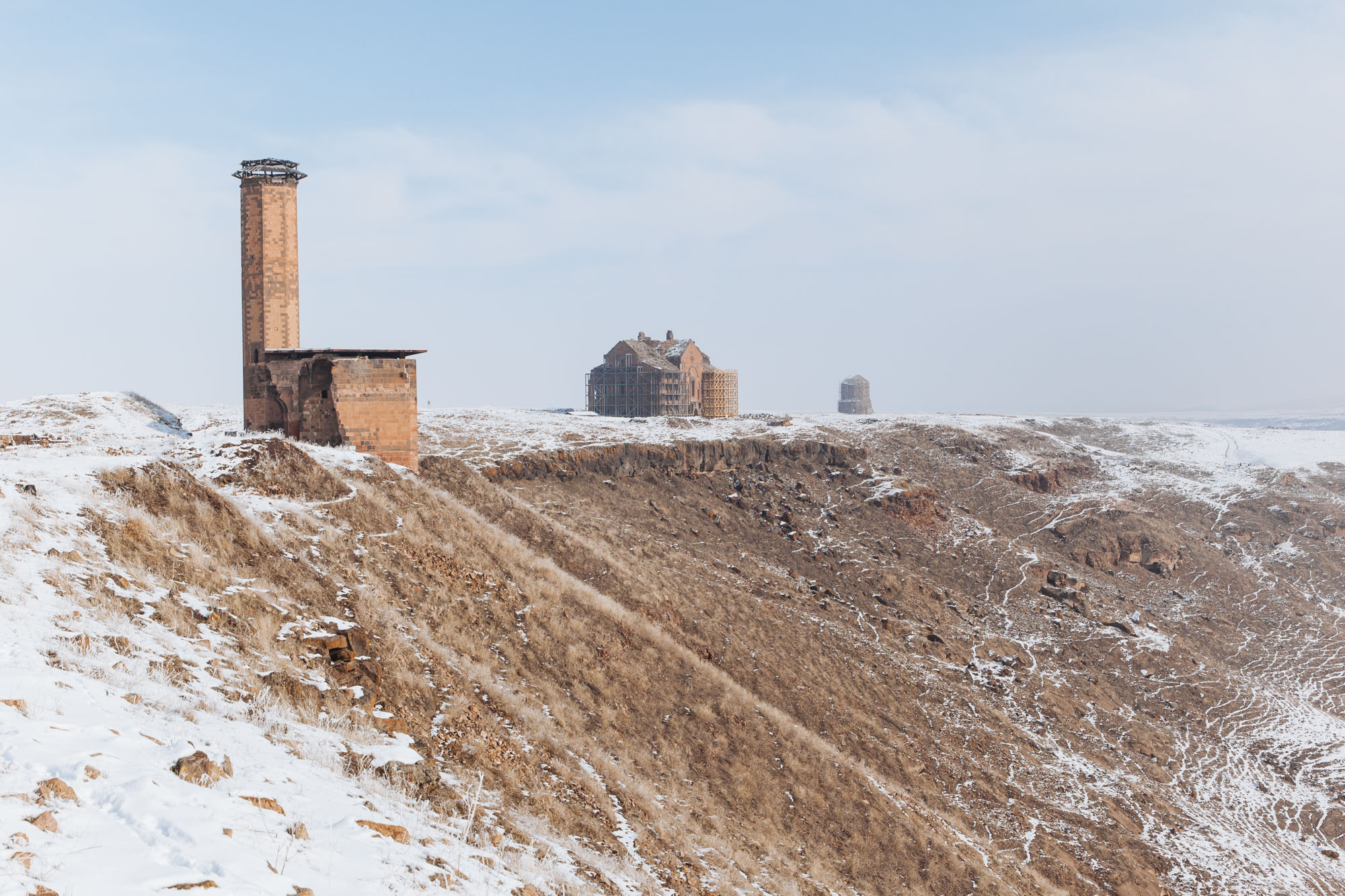 """The ruins of Ani are just to the east of Kars, along the border with Armenia. A once-great medieval city known as """"the city of a thousand and one churches""""."""