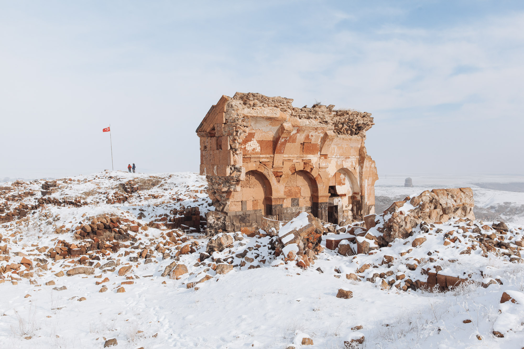 Ani was sacked by the Mongols in 1236 and devastated in a 1319 earthquake, after which it was reduced to a village and gradually abandoned by the seventeenth century.