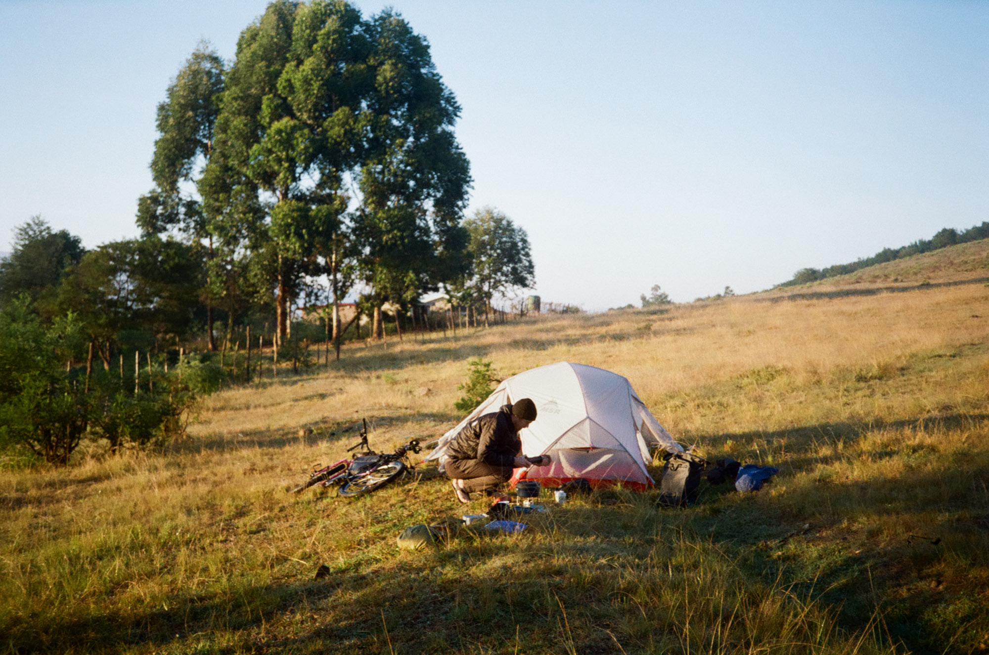 On our first night we met Themba, who let us pitch our tent in the field next to his house.