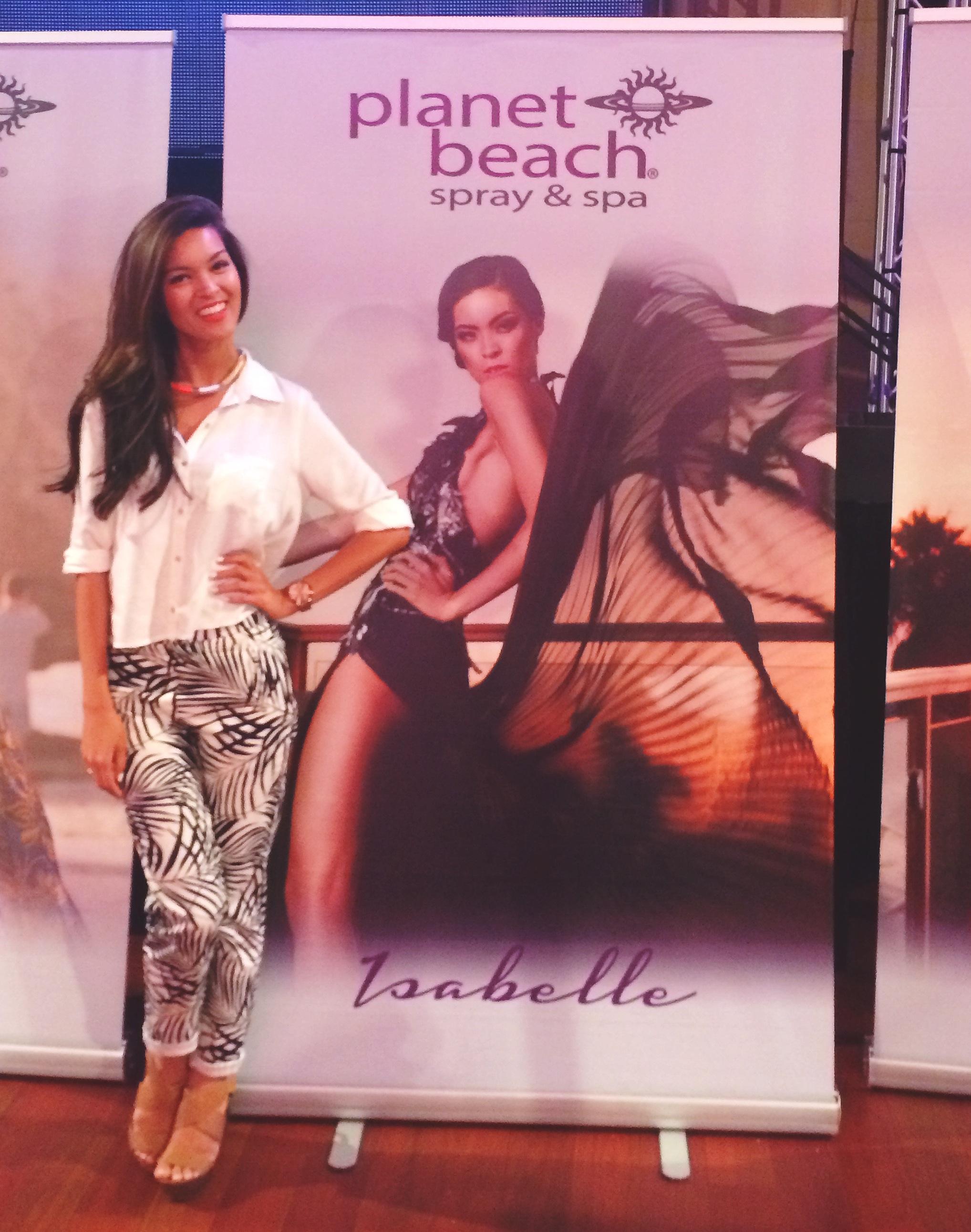 Planet Beach cover model Isabelle Du