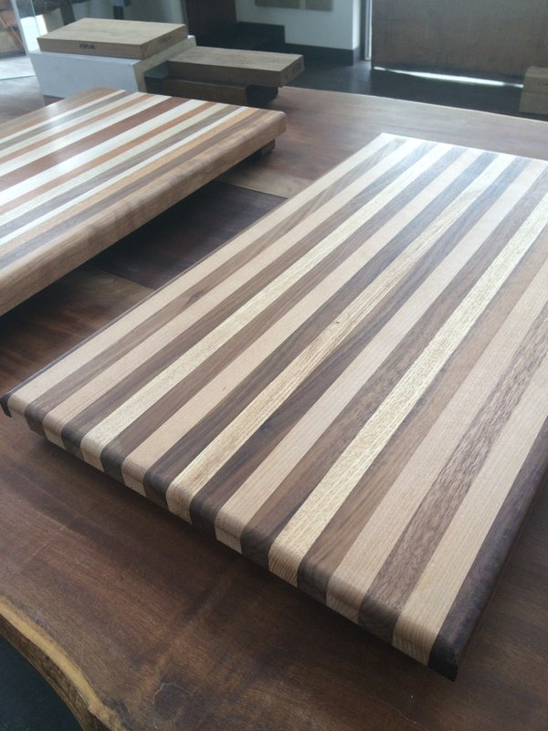 Hand made wood cutting boards. From Woodstock.                       c Wooodstockap.com