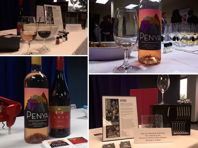 A recent corporate networking event. People were really surprised by the  Penya  rosé, and they loved the raffle prize!