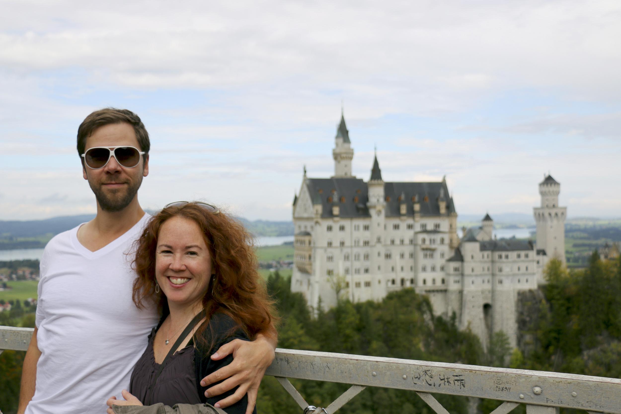 Neuschwanstein Castle  in the German Alps.