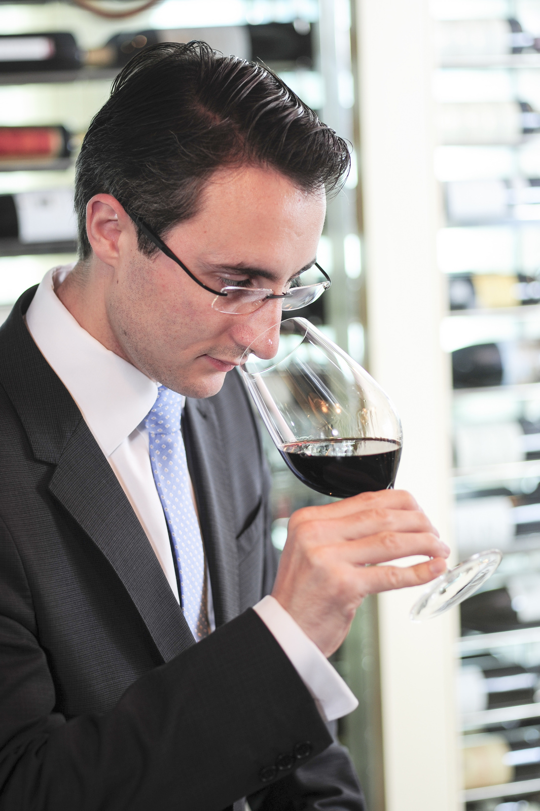 People who work in the business, like sommeliers, usually taste wines (sometimes, expensive ones) on a daily basis, for their job.