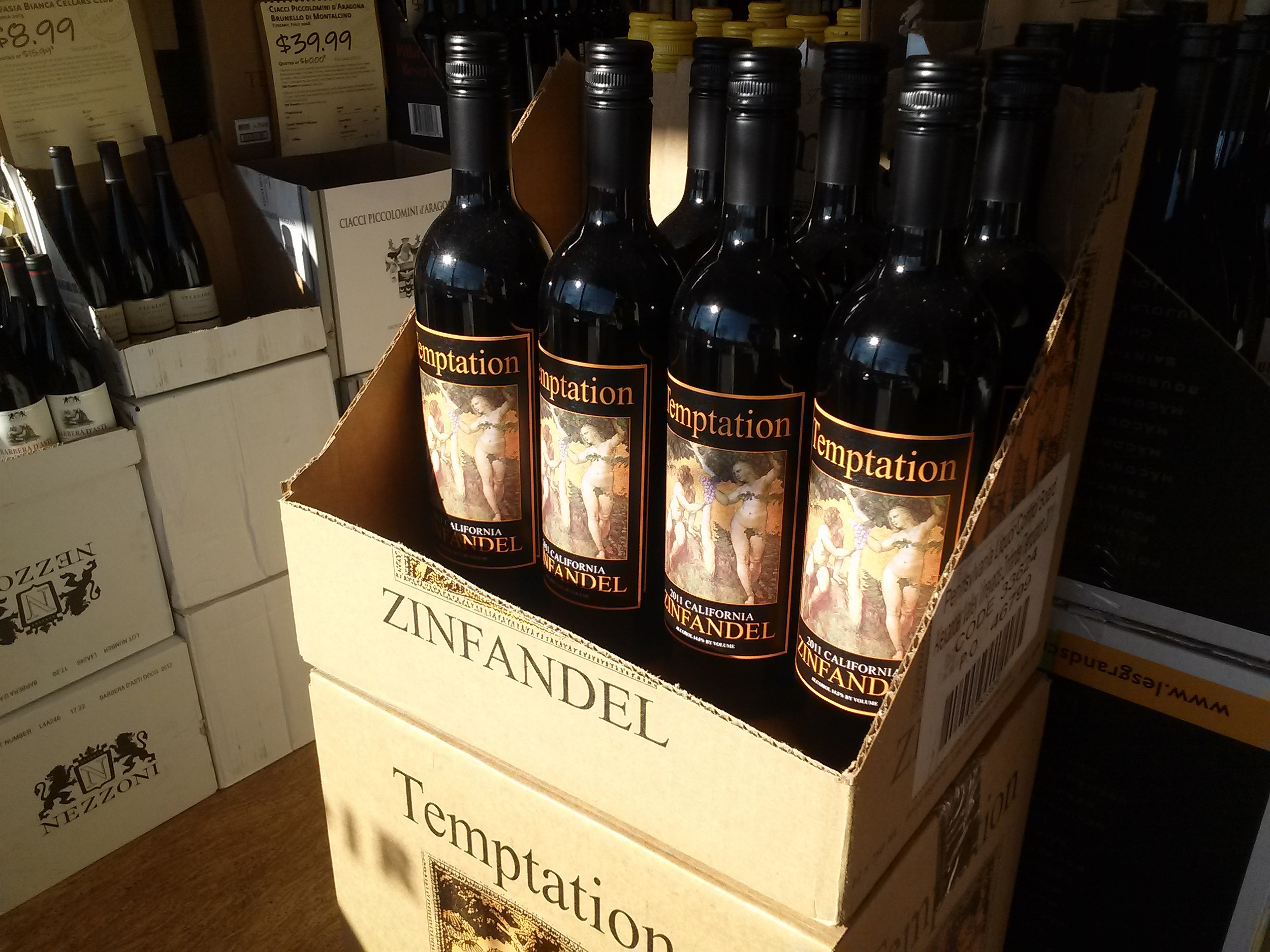 This CA Zinfandel was baking hot when I touched it. Maybe not a huge loss at about $10 (not sure what the price was), but still, do you want to buy  anything  that might be worthless?