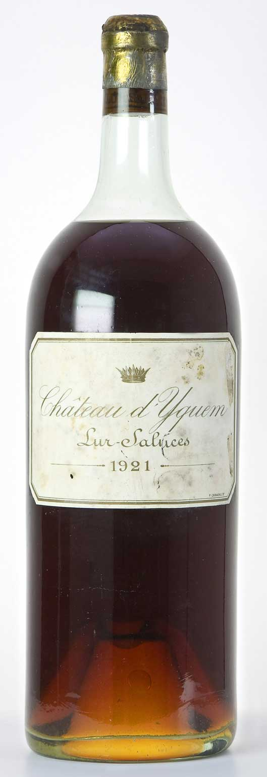 Chateau d'Yquem  is a famous sweet wine from Sauternes, Bordeaux that has sold for $100K a bottle.