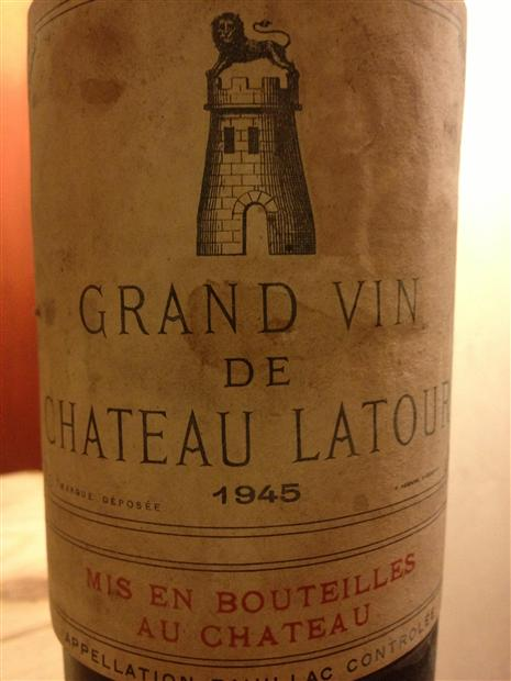 1945 is considered one of the classic vintages of the 20th century. It was the year WWII ended and in many cases, winemakers were finally able to get back to work intheir vineyards. This one will run you about $3000.From  cellartracker .