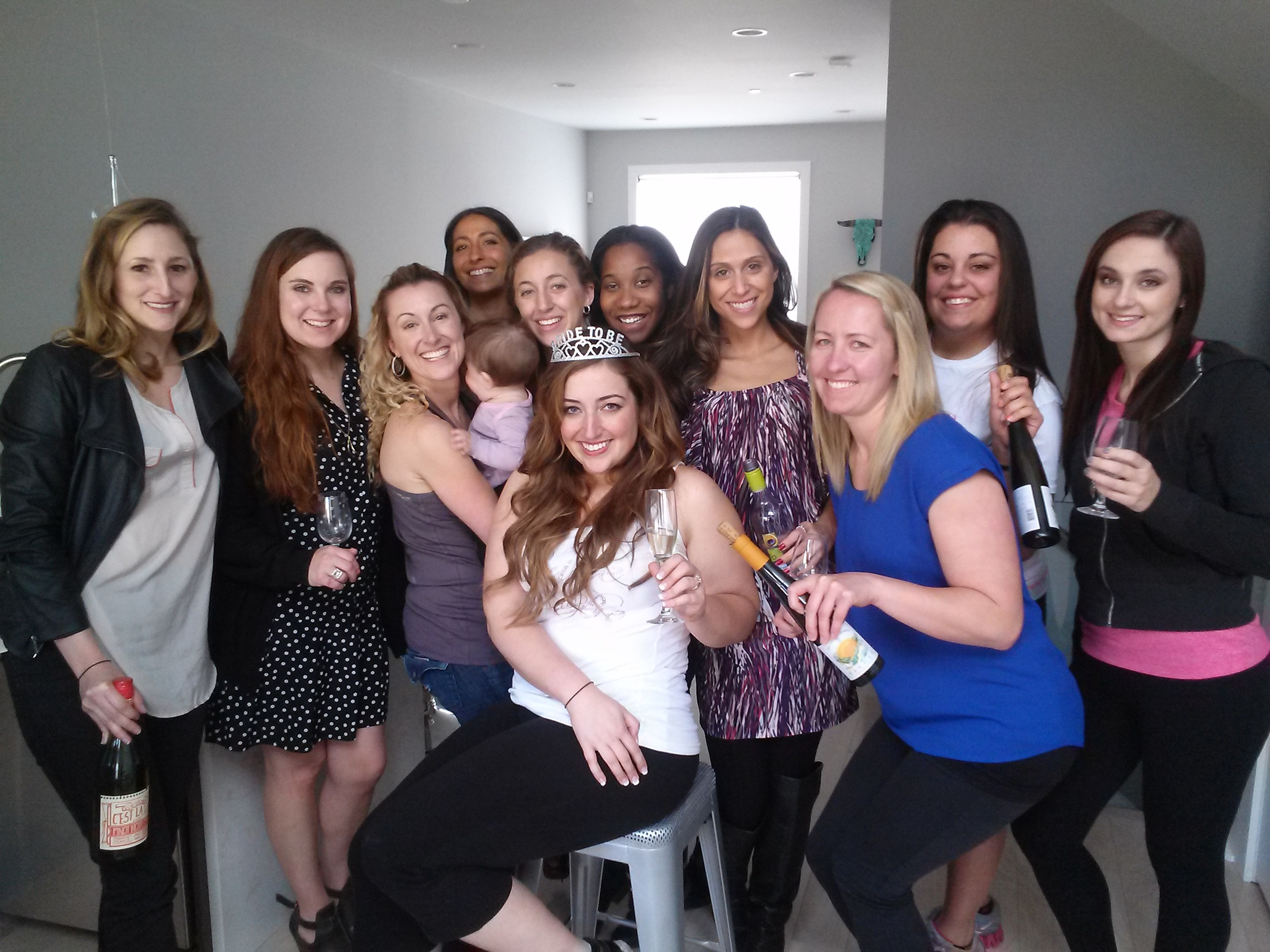April wine tasting event with a party of energetic Bachelorettes!