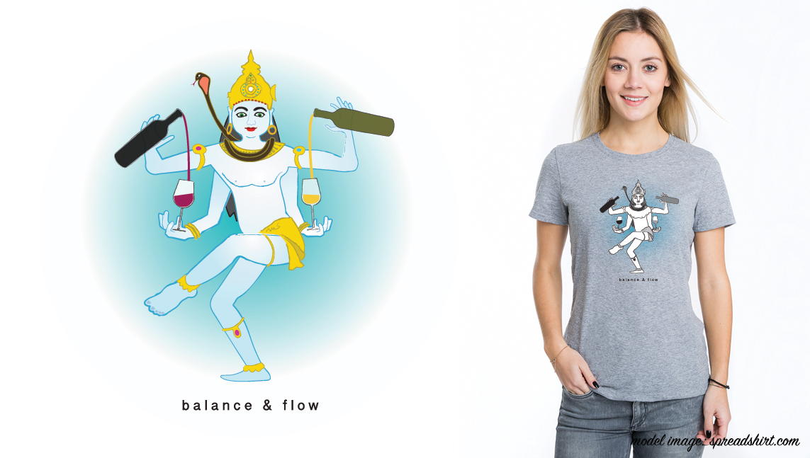 Daily Flow Wine & Yoga Tee