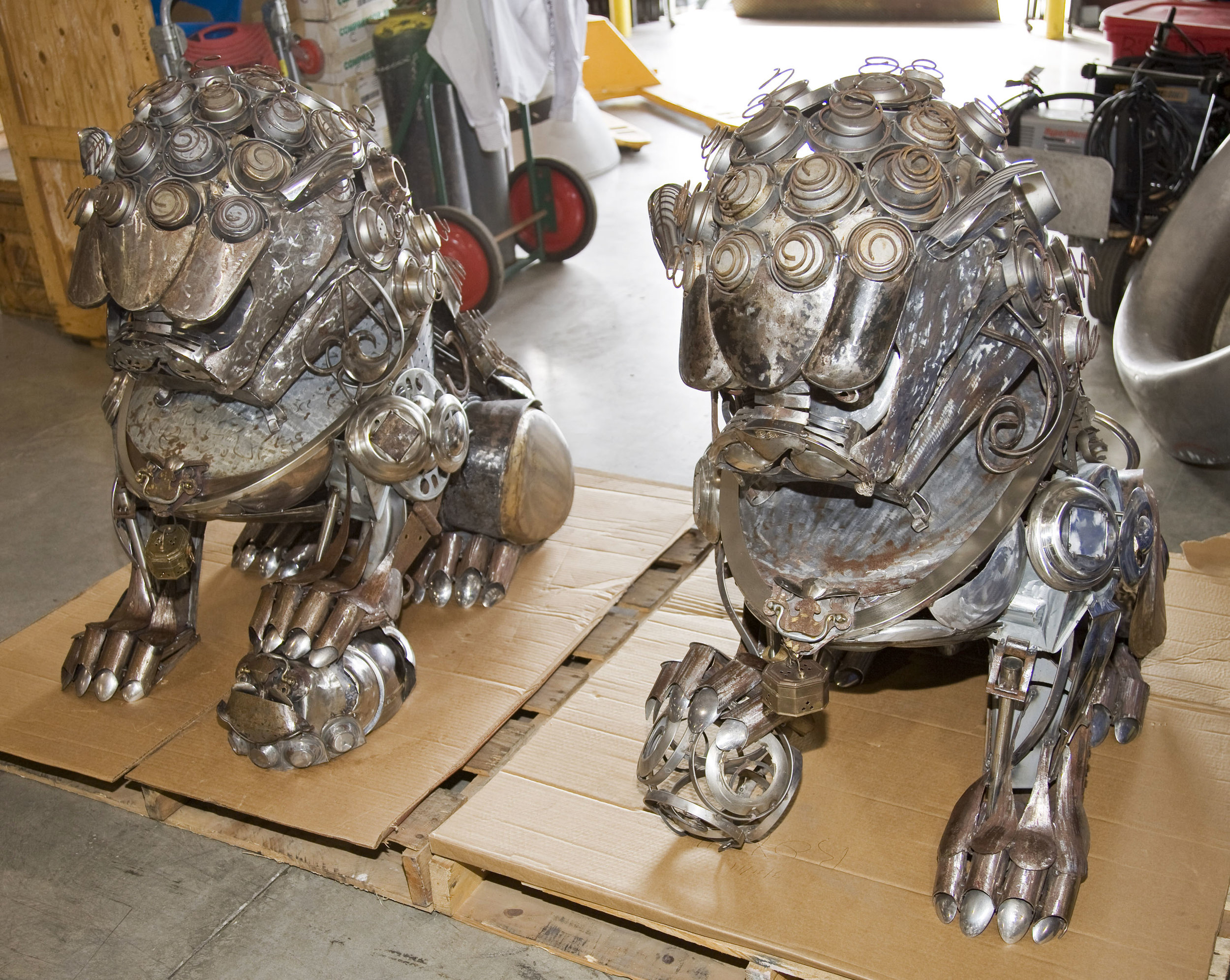 2016 Foo Dogs as a completed pair.