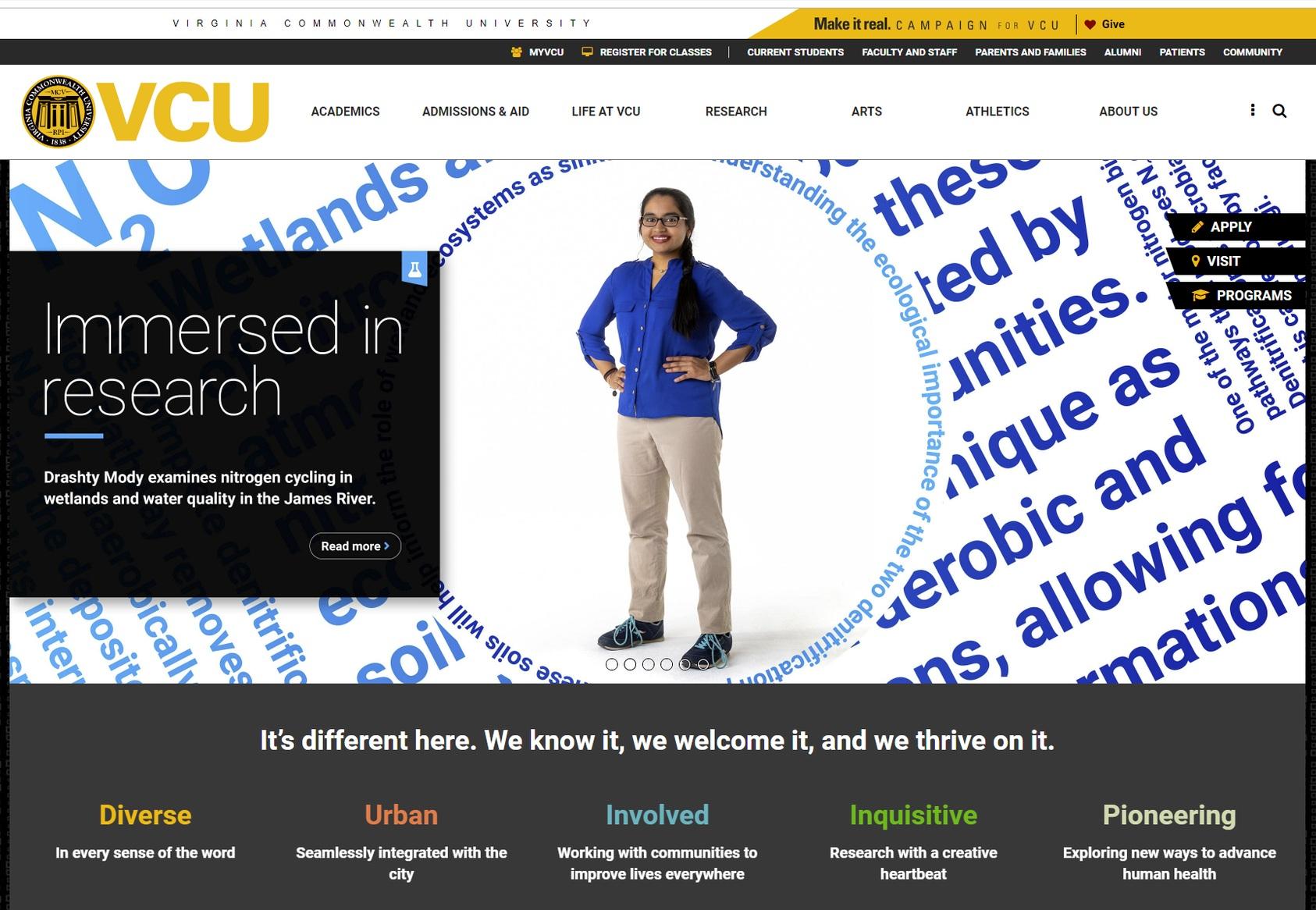 Drashty_VCU_homepage.jpg