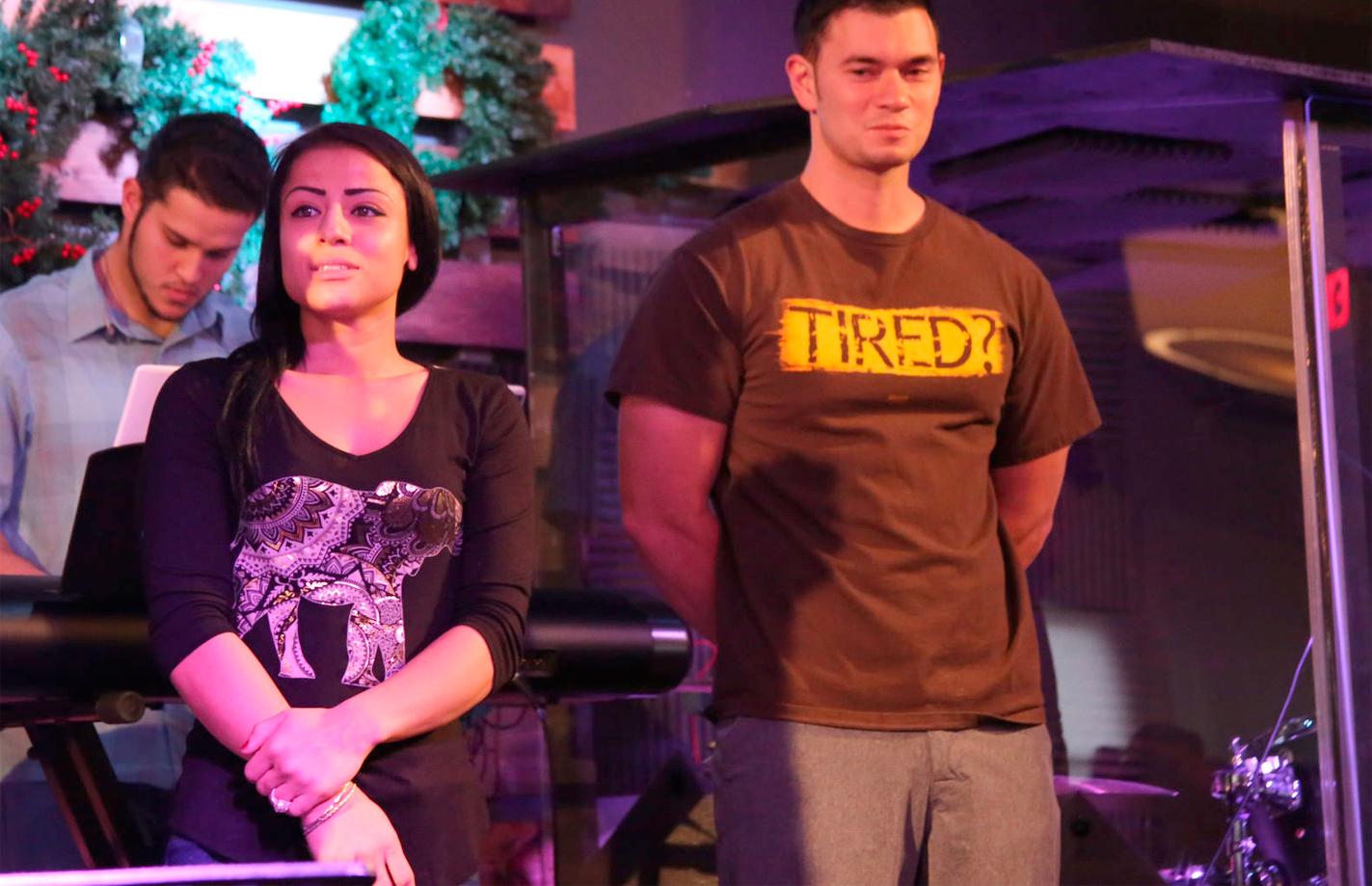 Melinda and Kevin onstage