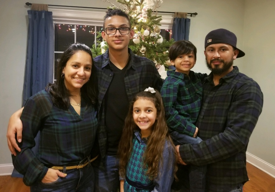 Meet the Estrada Family:  Hans Estrada is pictured here with his wife Alicia, son AJ, daughter Jalexci, son Hans Jr aka Dinho. His oldest daughter (not pictured) Arianna is in the Air Force overseas.