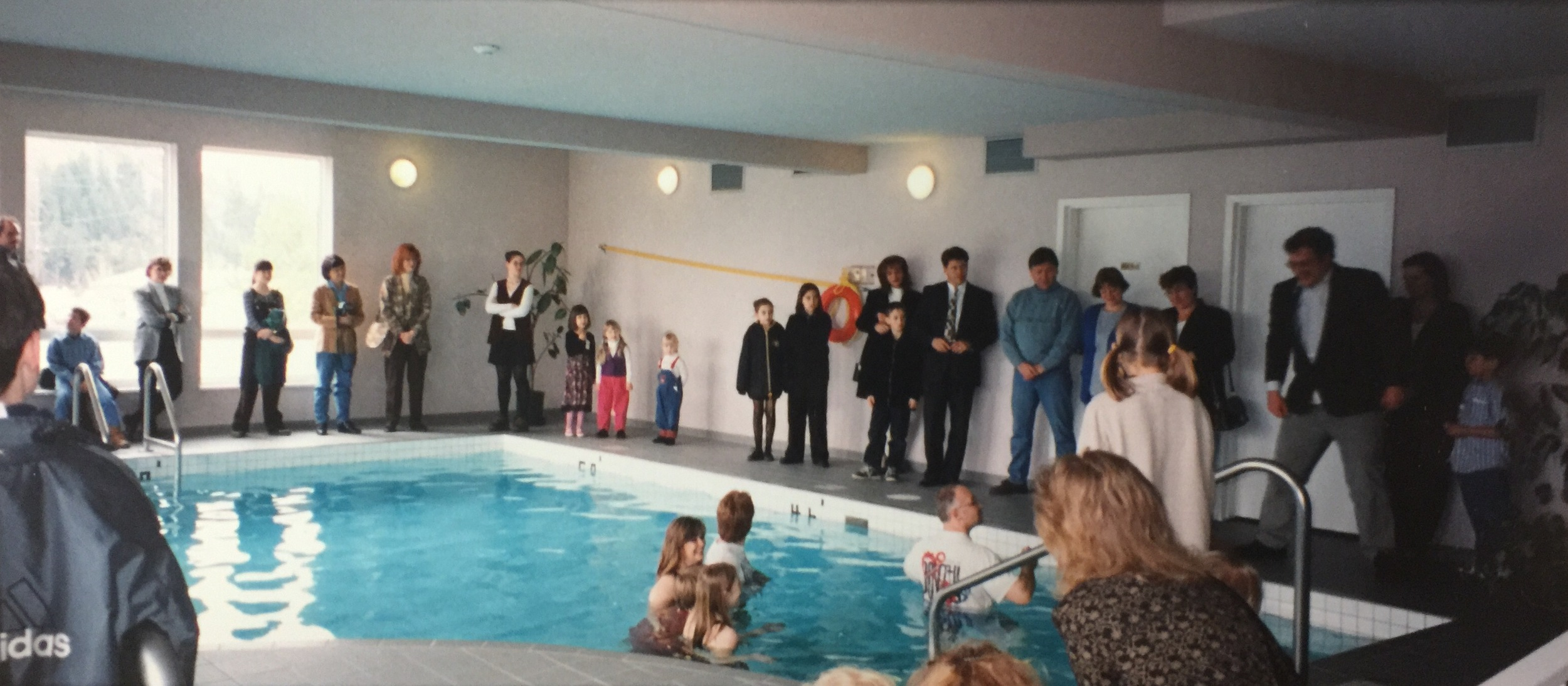 Baptism Sunday in the Hotel Pool