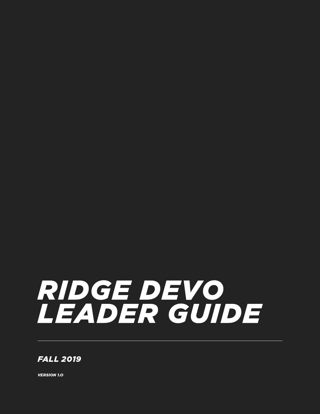 Leader Devo Guide - Version 1.0