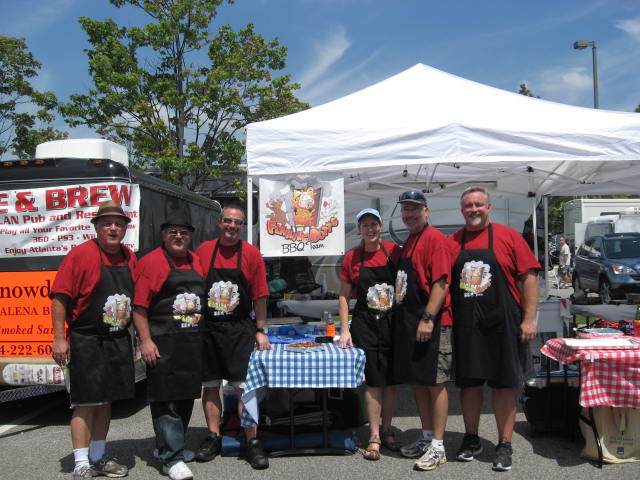 This is 2012 Pigs and Peaches Backyard Grand Championship team. Dave Weiss on the far right went on to become a permanent member. The others are now mostlyavoiding arrest warrants.
