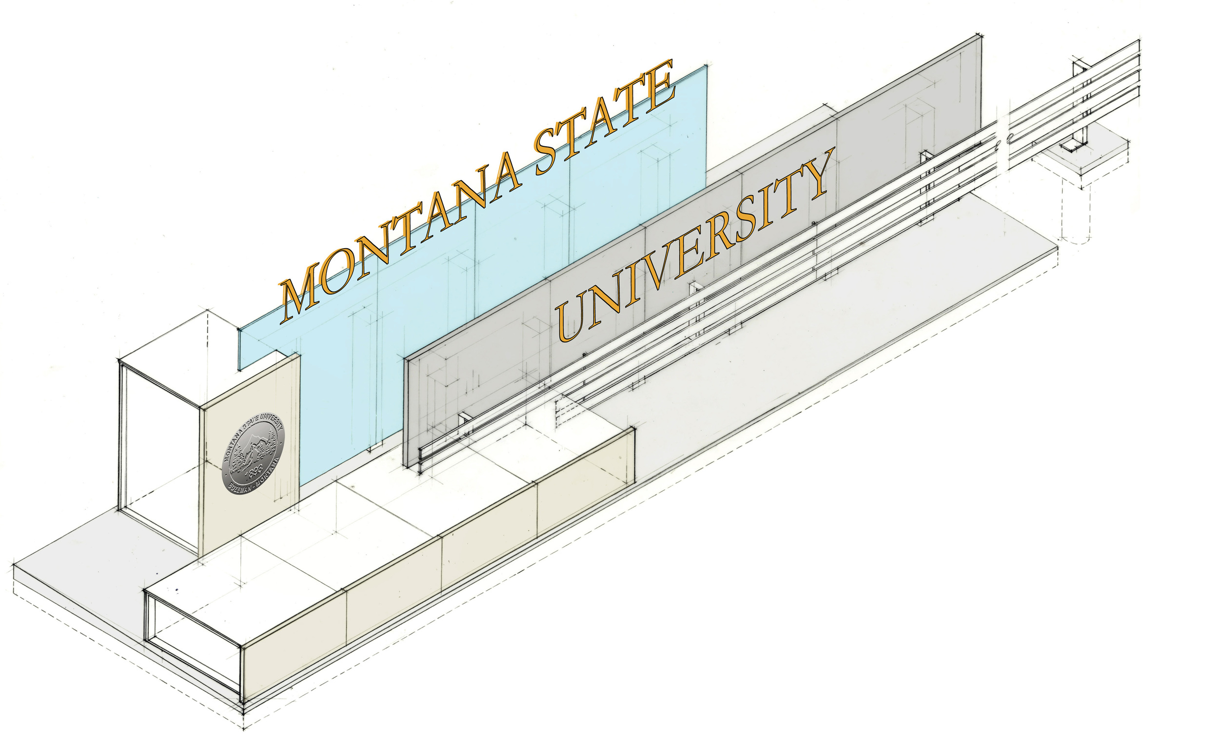 Montana State University - Entry Sign
