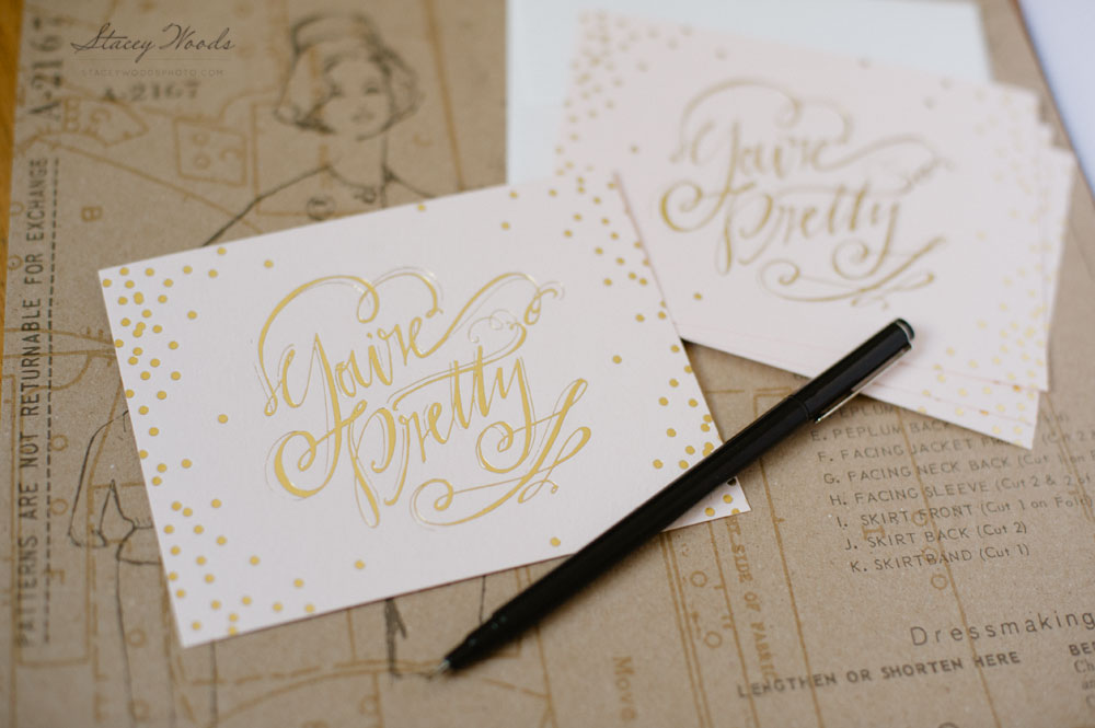 you're pretty notecard by Lindsay Letters