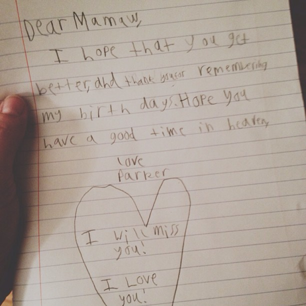 letter to momaw