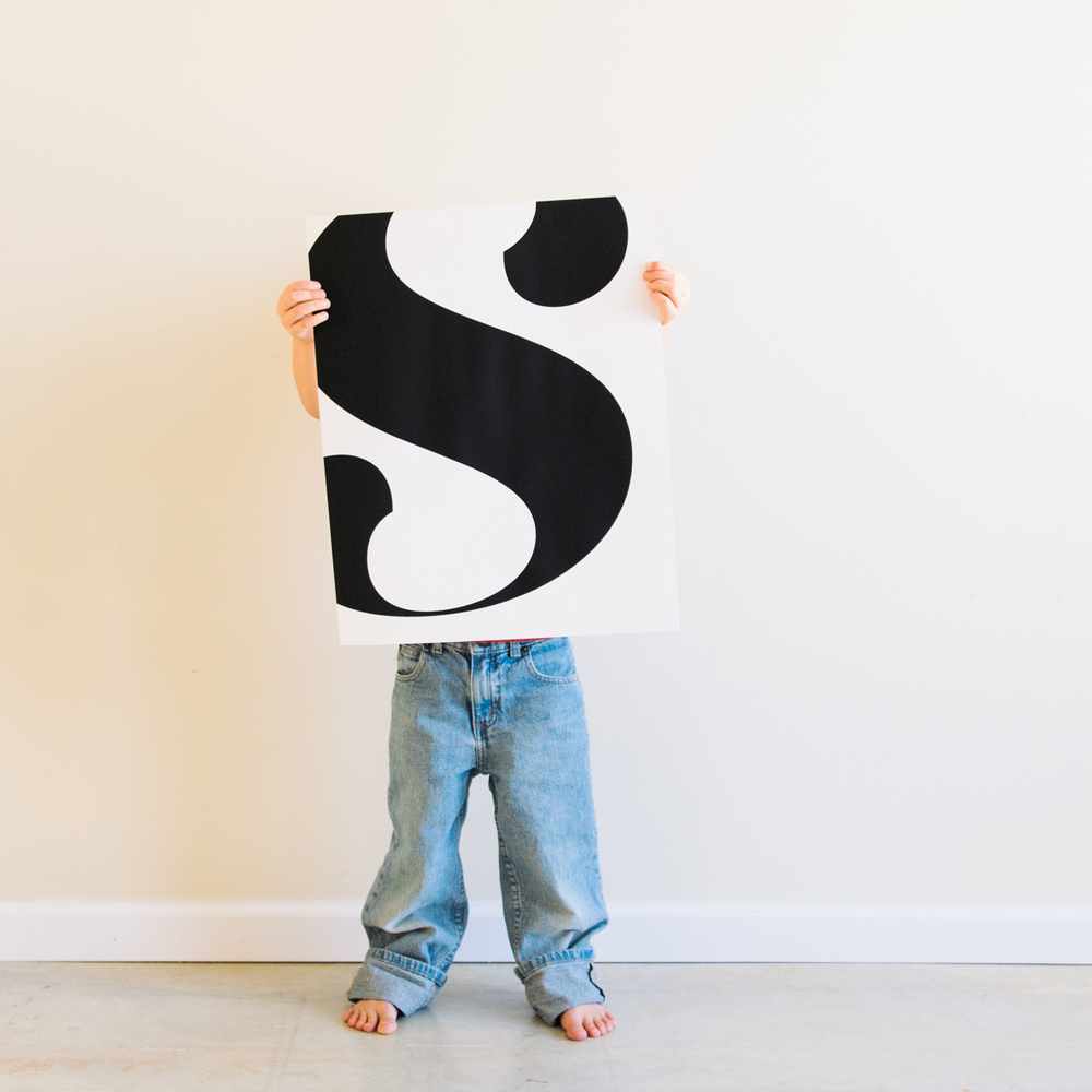 S monogram from clementine & pickle