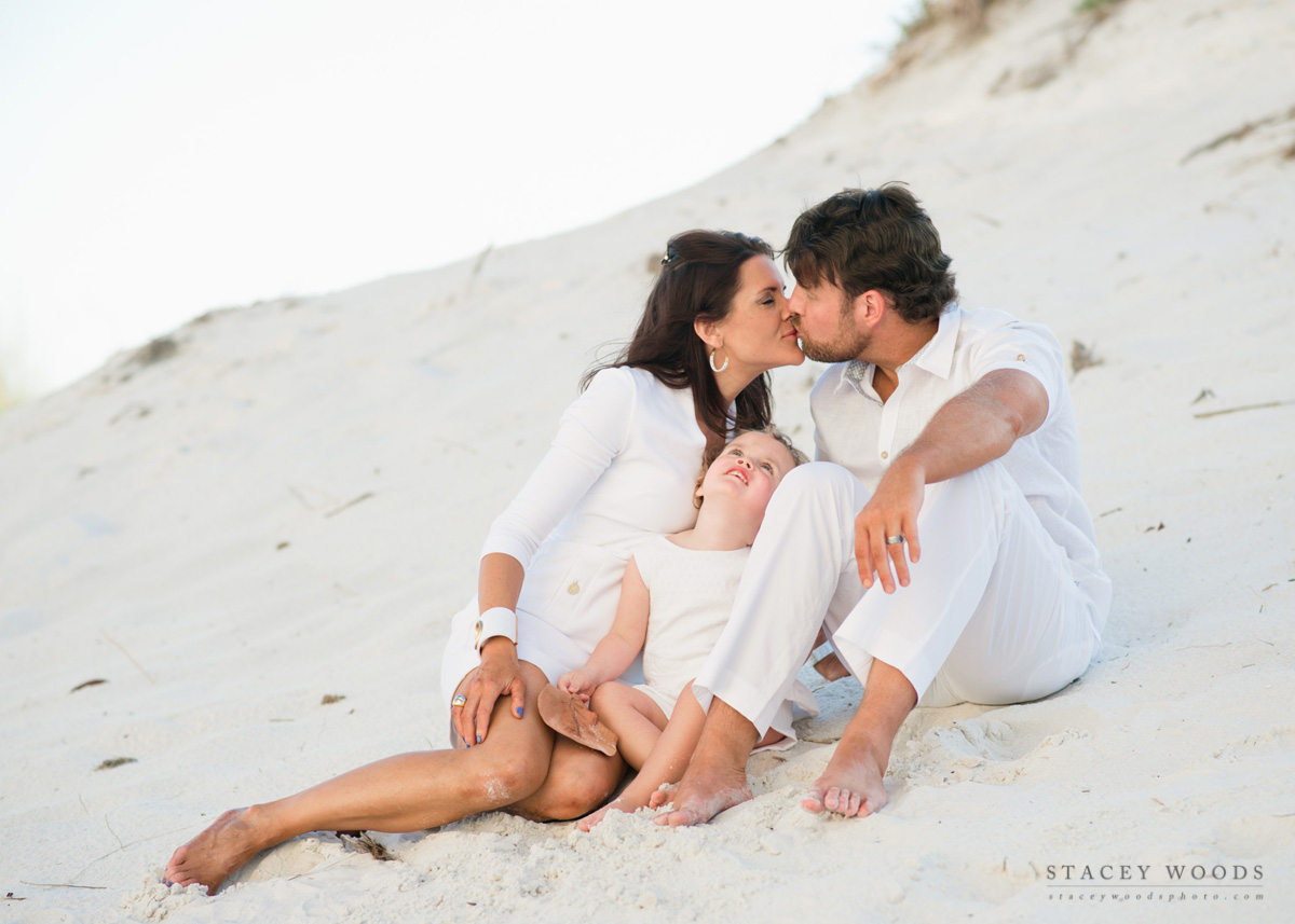 Family on the Dunes, by Stacey Woods