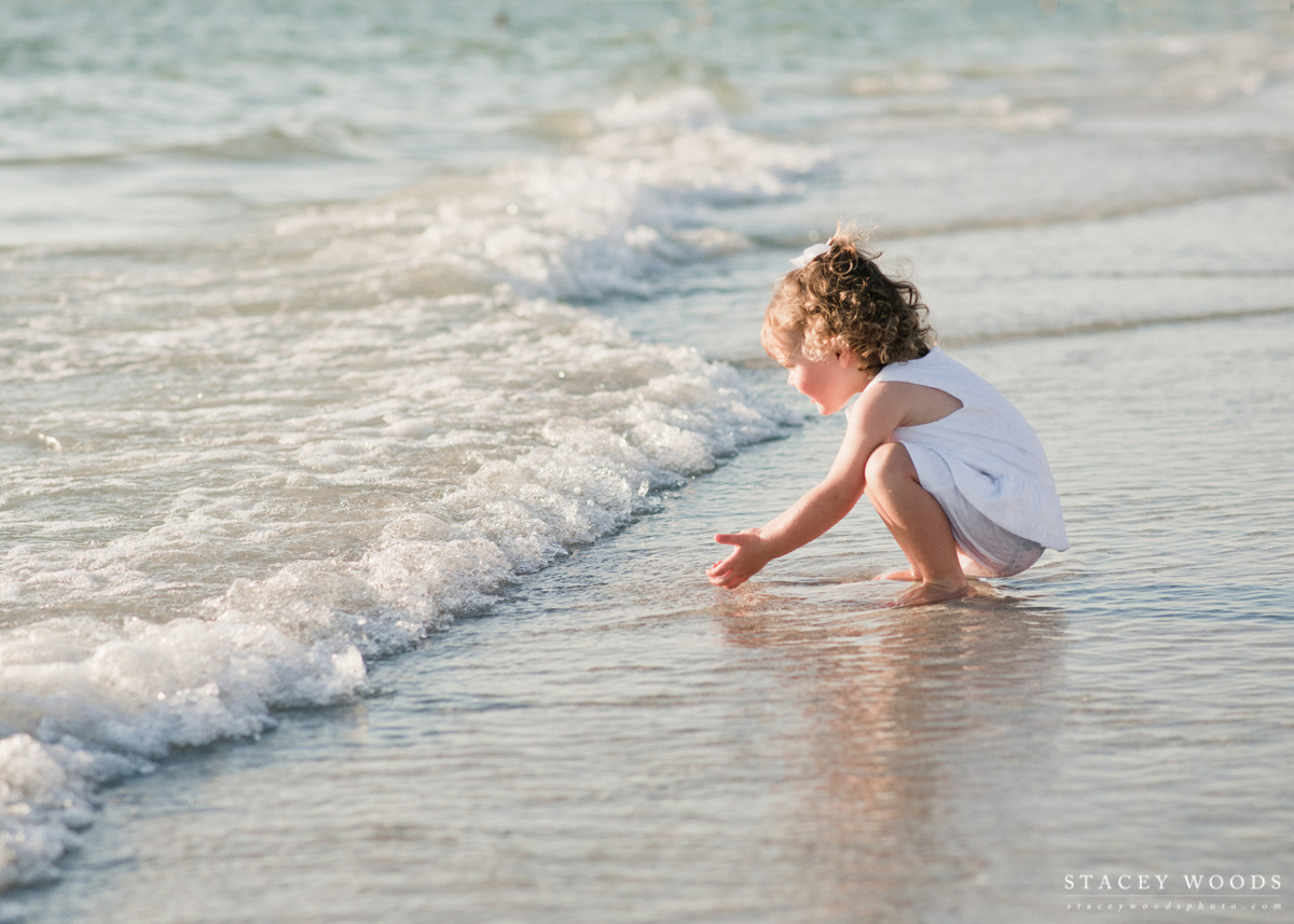 Catching a Wave, family beach photography by Stacey Woods