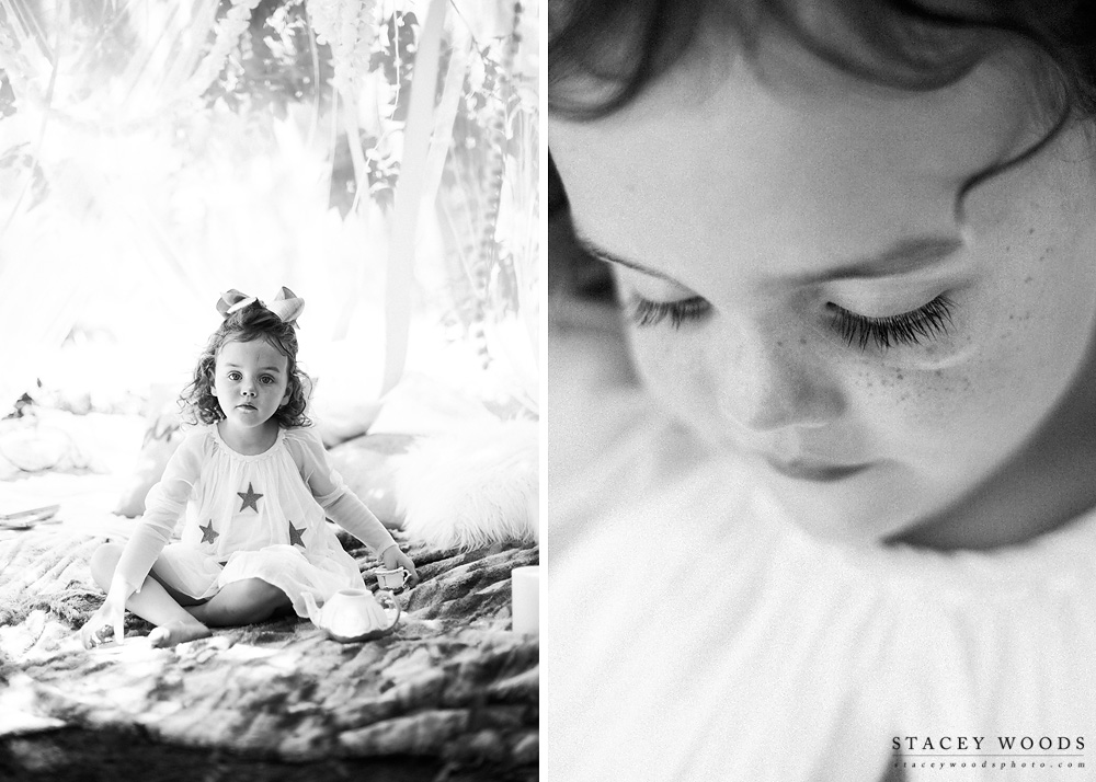 Tea Party Under a Twinkly Canopy || Stacey Woods, Child Photographer for Tampa Bay, Florida