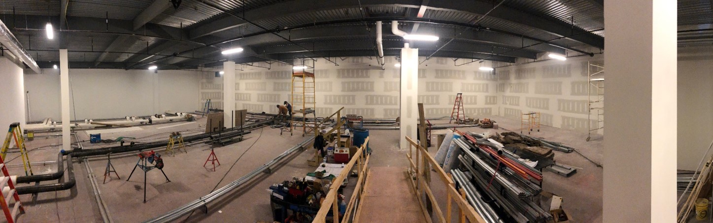 Week of May 13th - May 17th, 2019   Drywall is completed and ready for a fresh painting. Electrical and cooling runs getting completed for under the 3 foot raised flooring.