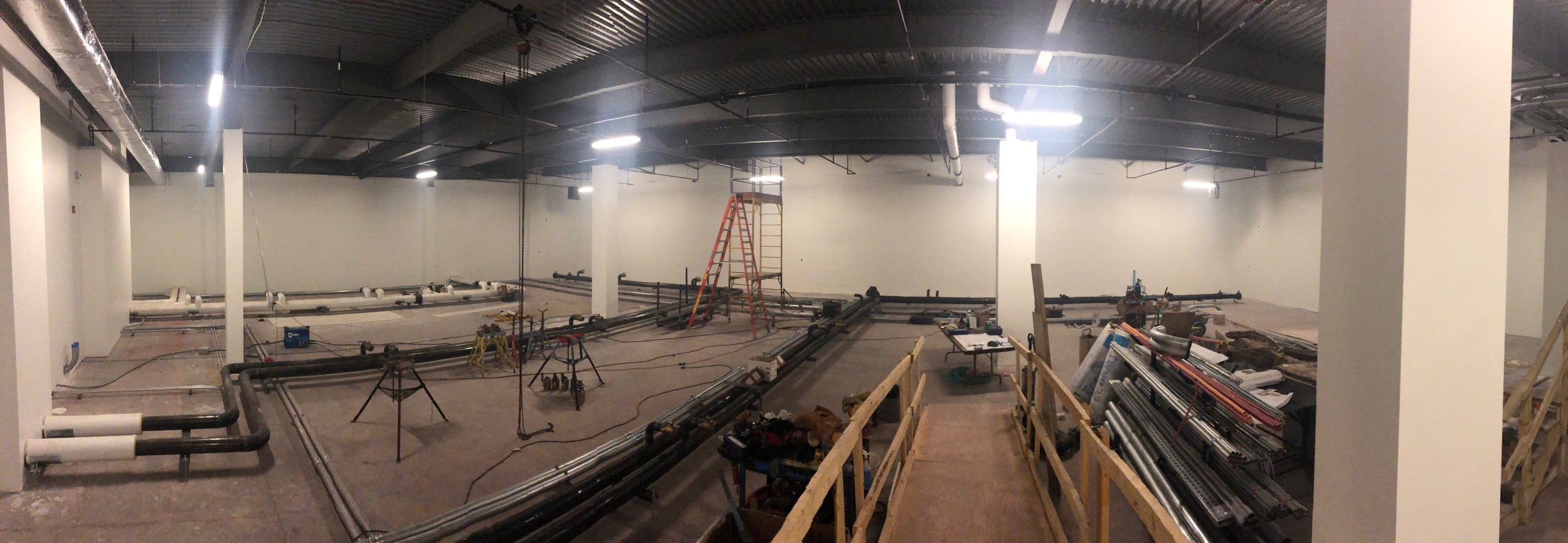 Week of May 20th - May 24th, 2019   Paint on drywall is completed, cooling runs are completed and next week flooring starts getting put in.