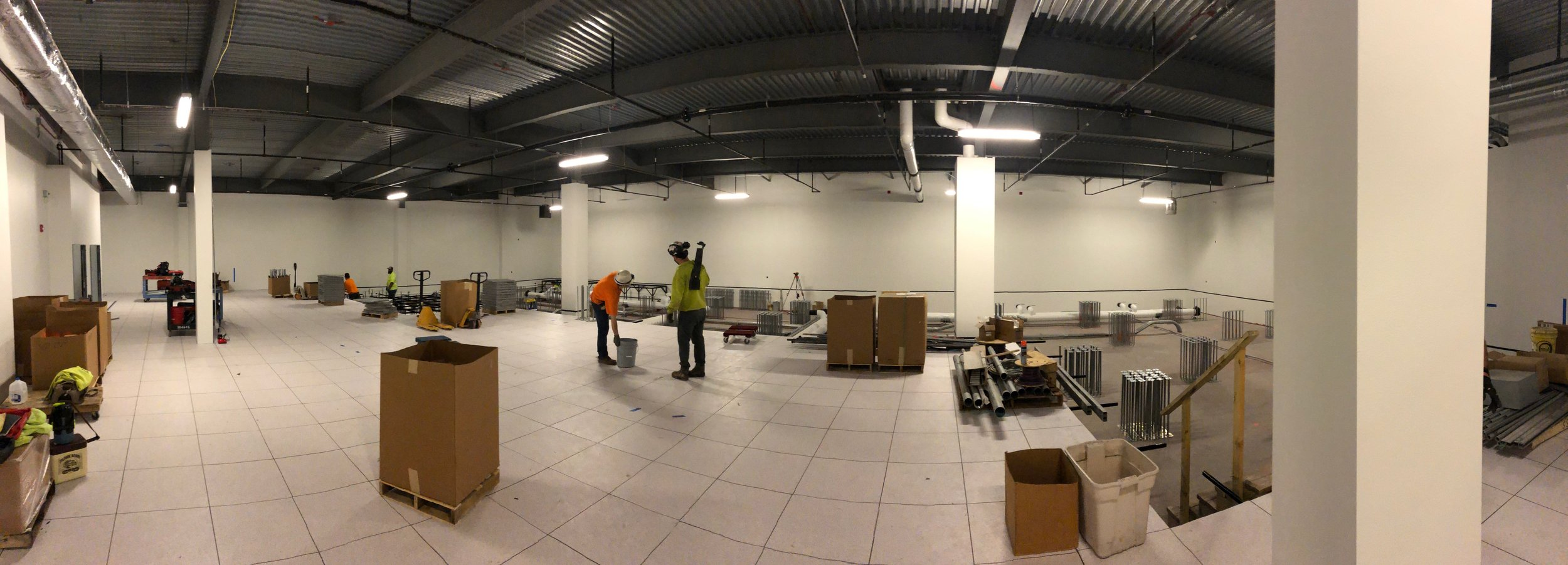 Week of May 27th - May 31st, 2019   The room is starting to come together. 3 feet of raised flooring is being added and should be completed the first week of June.