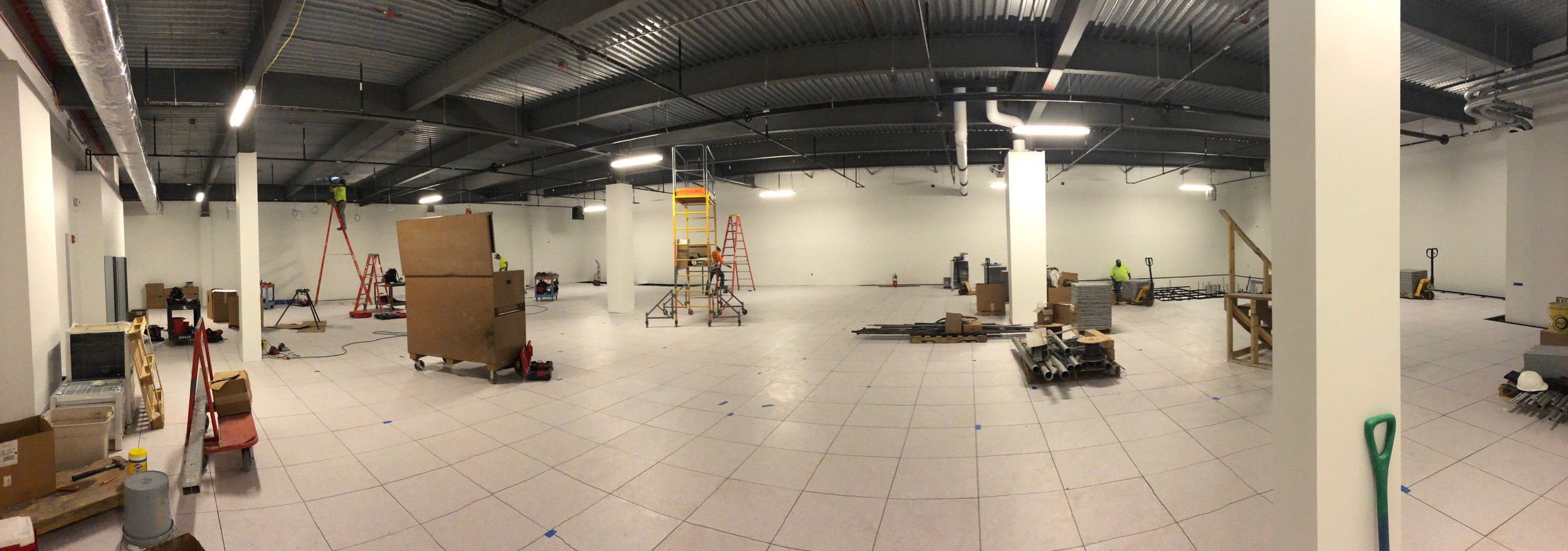Week of June 3rd - June 7th, 2019   Almost two weeks of construction and the flooring is complete.