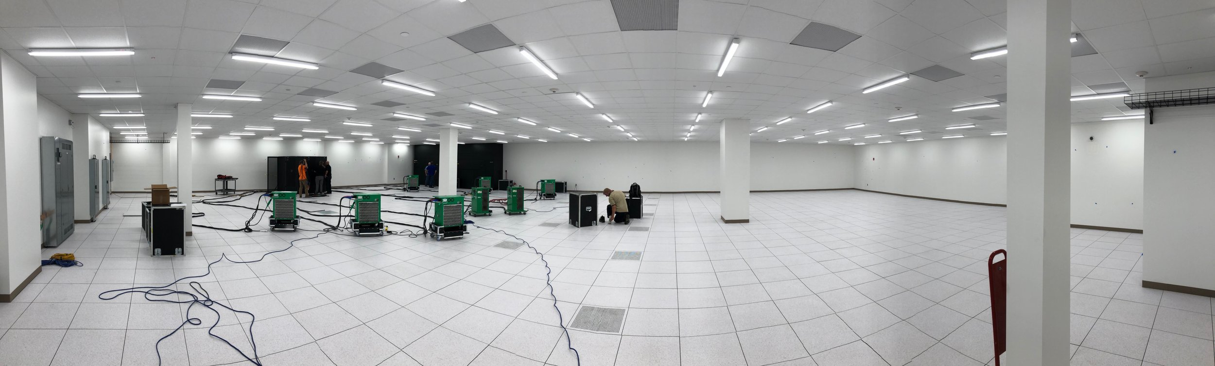 Week of August 5th - August 9th, 2019   800 kW of Resistive Load Banks installed for teting of UPS , PDU's and Cooling. Suite tested to 110 % of design