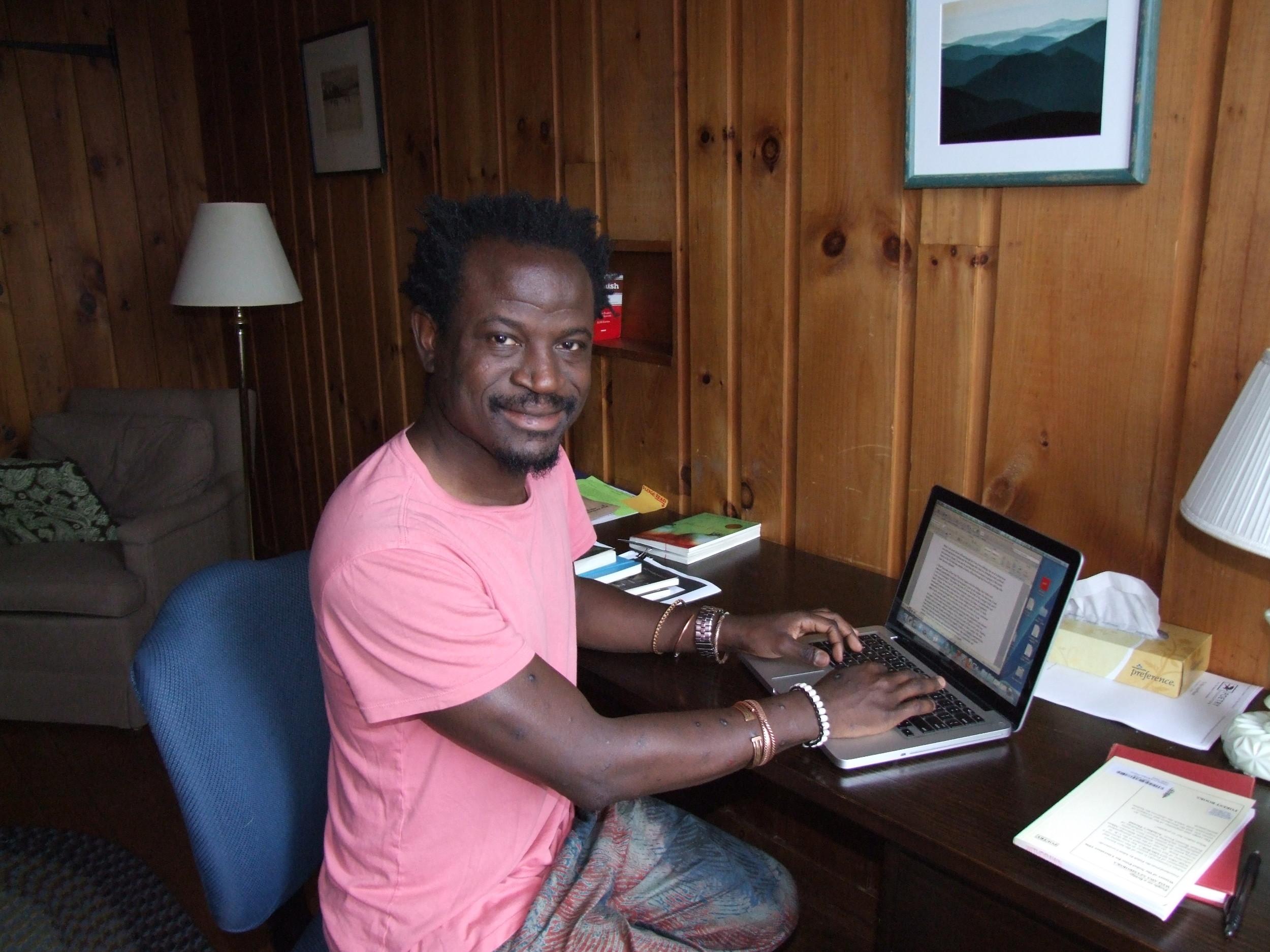 2014 Resident Bernard Matambo in a writer's study