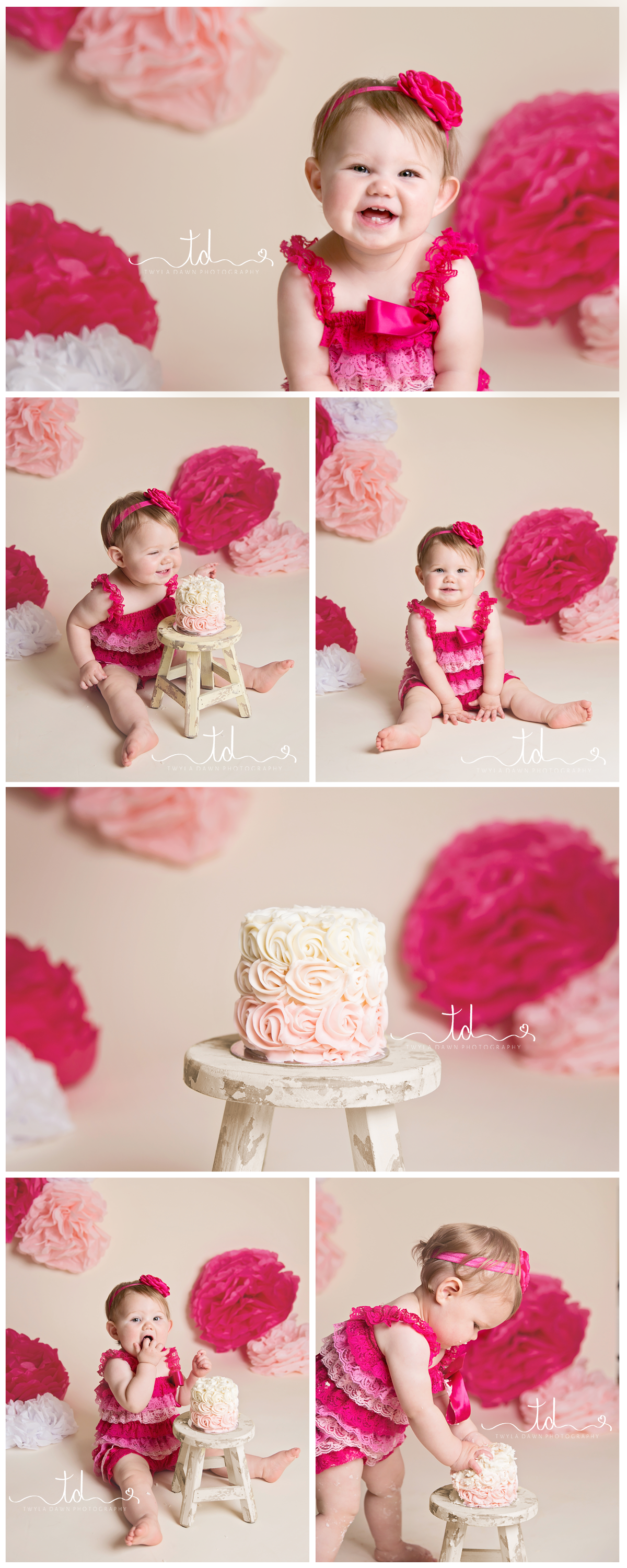 Heber-Utah-child-photographer-girl-pink-cake-smash-one-year-old-birthday