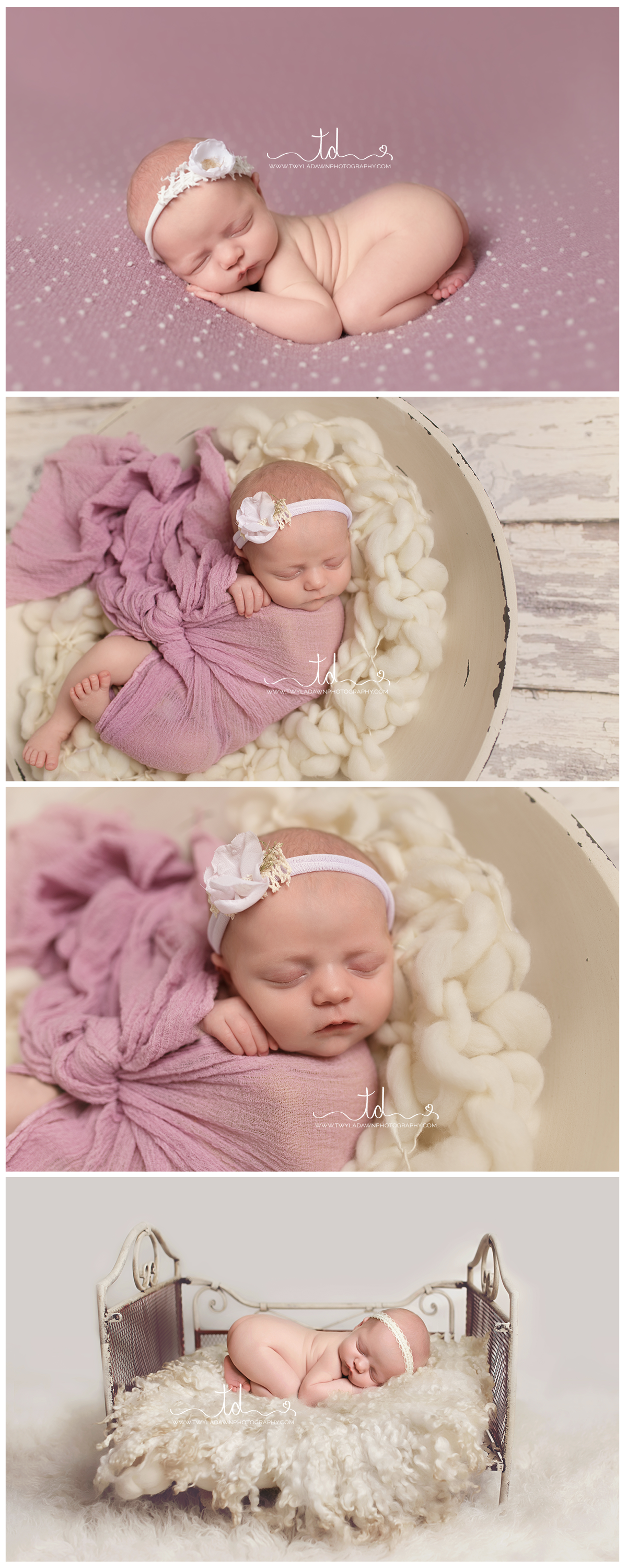 Heber - Park City, Utah Newborn Photographer | Baby Girl in lavender #twyladawnphotography