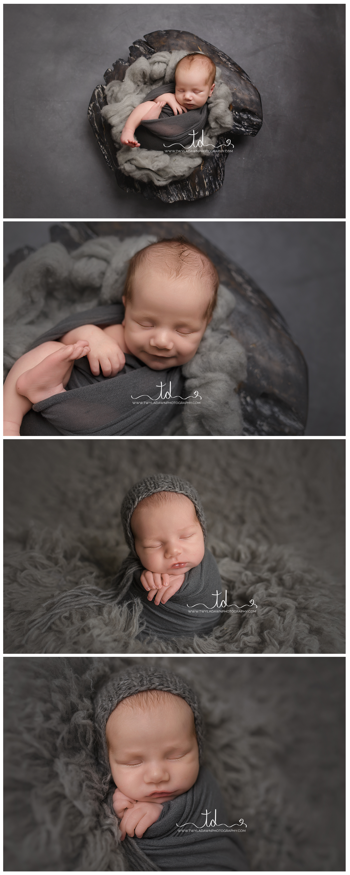 Utah Newborn Photographer | All Grey newborn photo session #twyladawnphotography