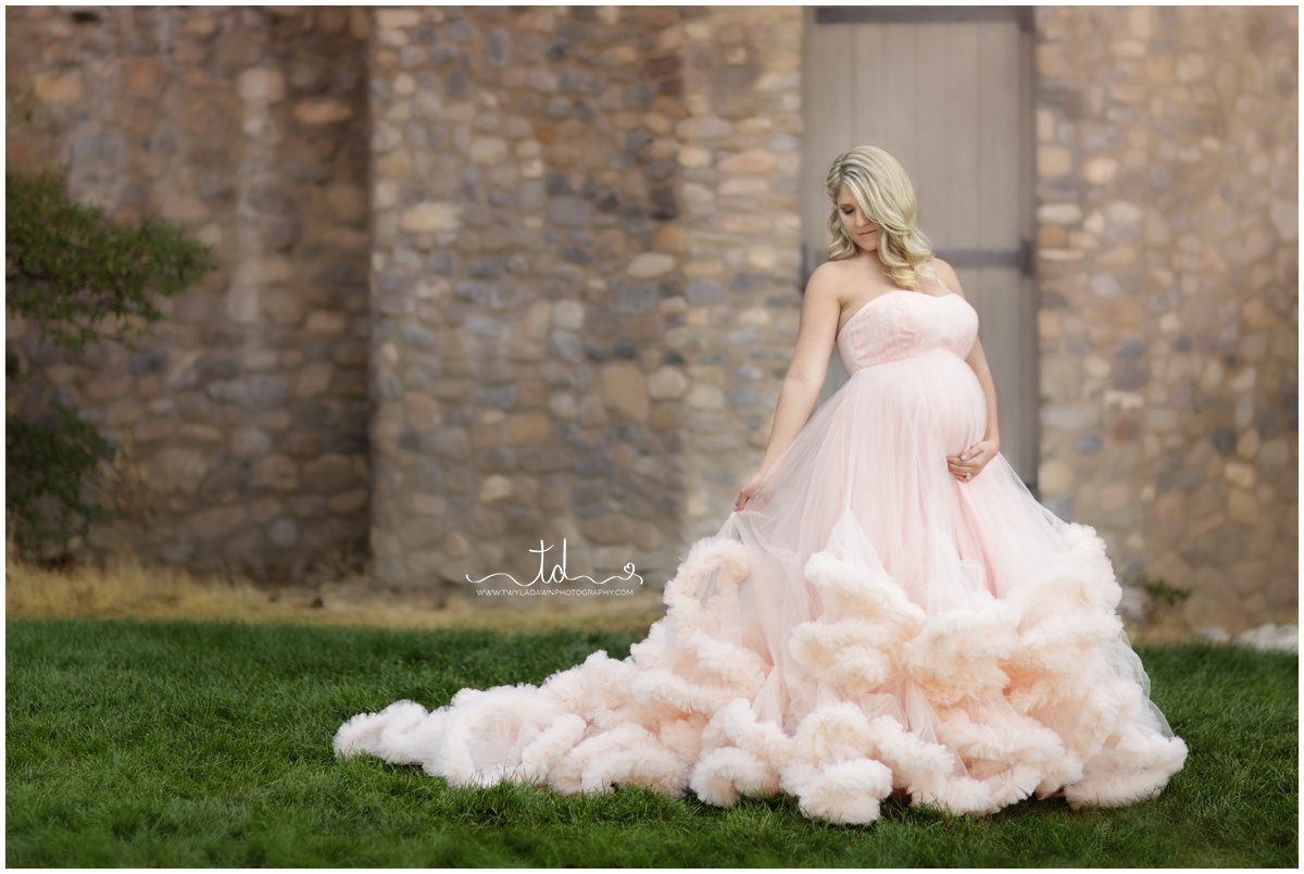 The Harlow in Blush | Maternity Gown Collection | Utah Maternity Photographer