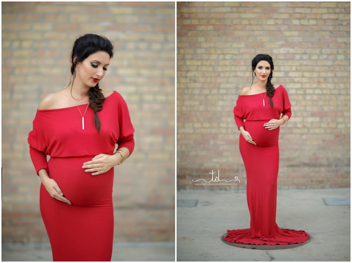 Red Jaden Maternity Gown | Twyla Dawn Photography