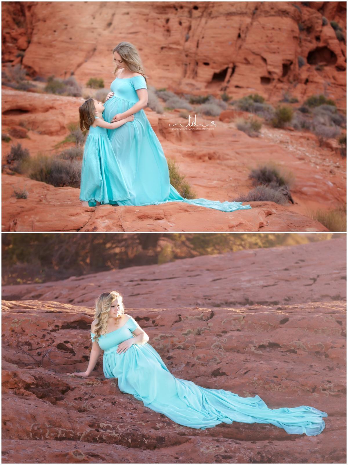 Tiffany Blue Cameron Maternity Gown | Utah Maternity Photographer | Twyla Dawn Photography