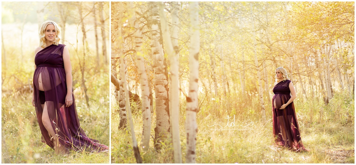 The Olivia Maternity Gown in Plum | Utah Maternity Photographer | Twyla Dawn Photography