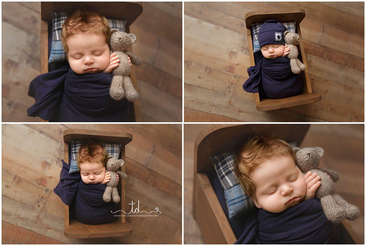 Utah Newborn Photographer | Little Boy Blue | Newborn Blue Navy Session | #TwylaDawnPhotography