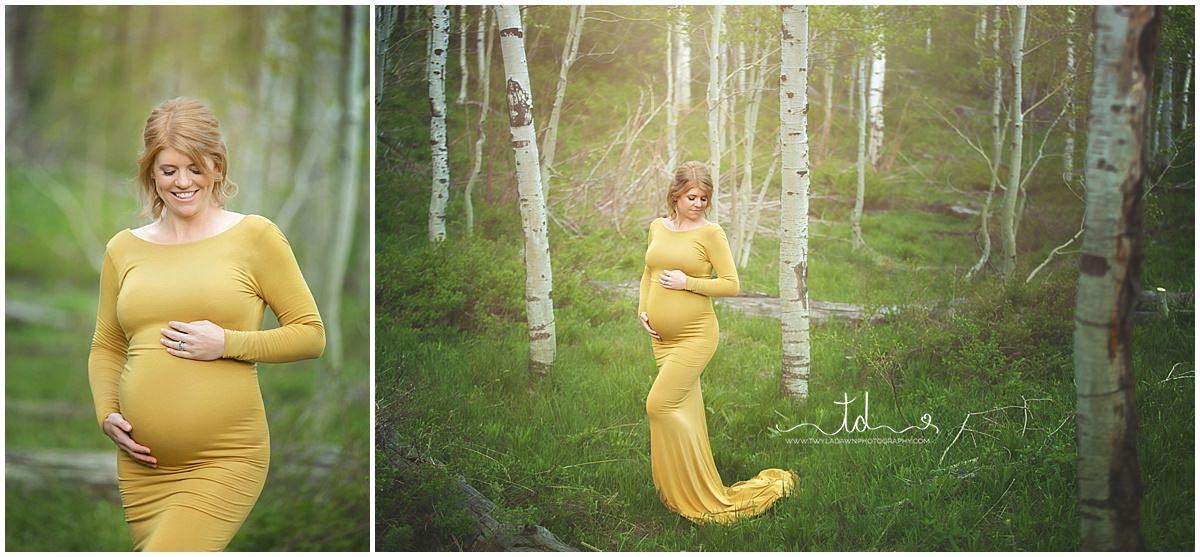 Utah Maternity Photographer | Park City Maternity | Maternity Gown Collection  #TwylaDawnPhotography