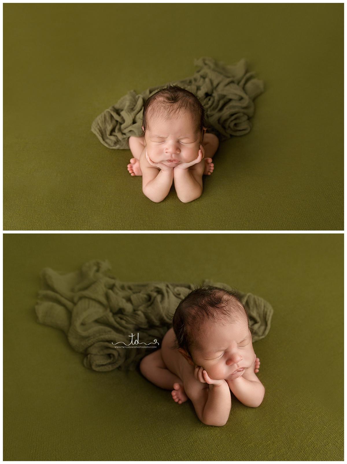 Newborn Froggy Pose   Utah Newborn Photographer   Twyla Dawn Photographer