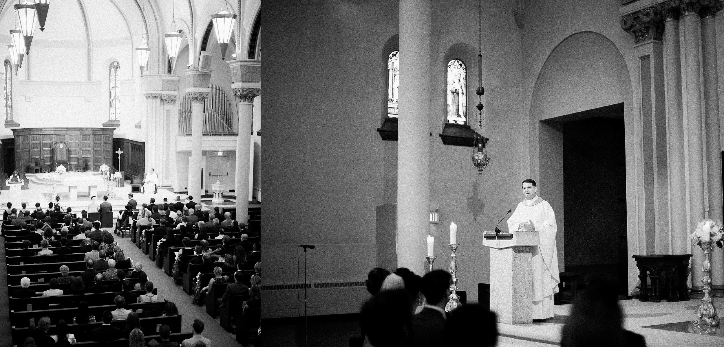 Classic cathedral church ceremony priest | photographed by Toronto Ontario Wedding Photographer Keila Marie Photography