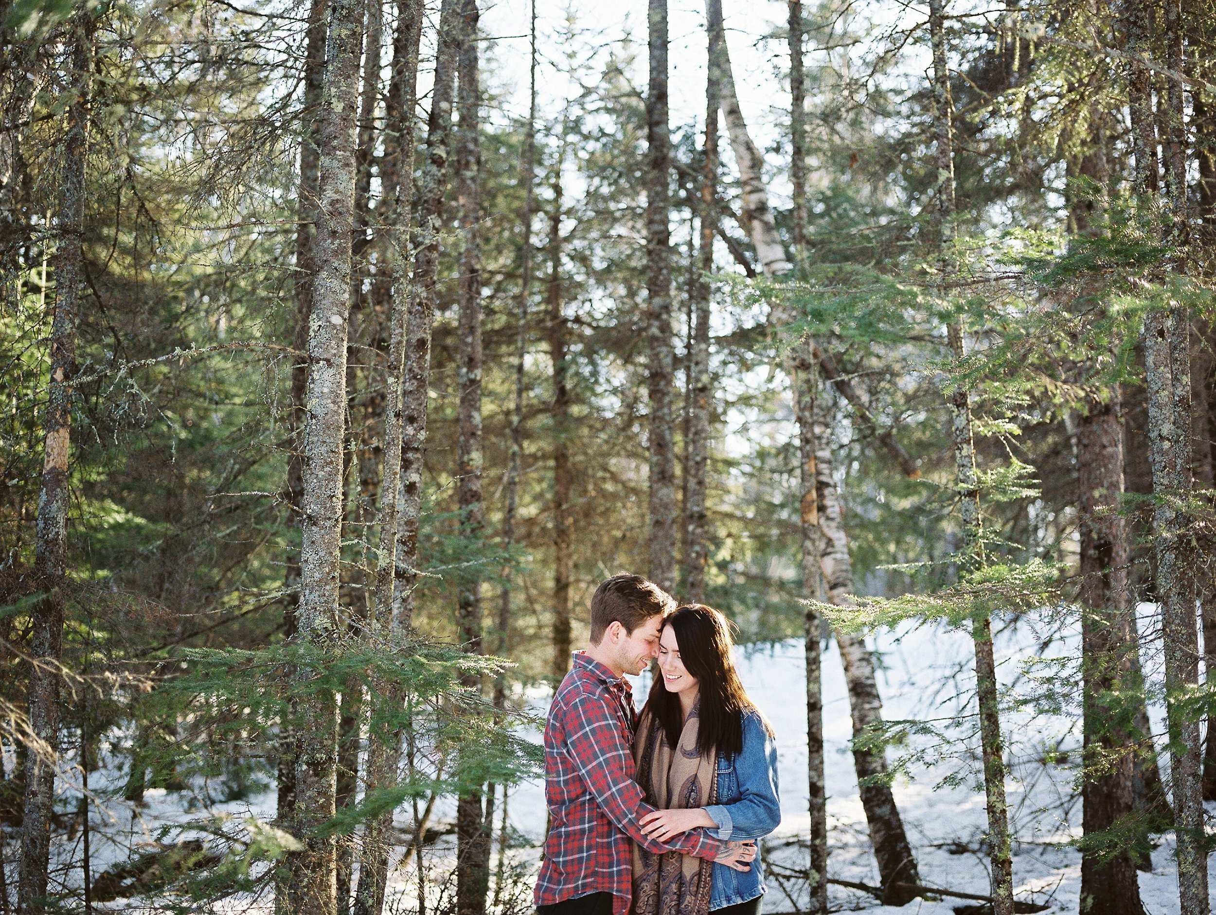 Forest couples photos | Romantic Engagement Session | photographed by Film photographer Keila Marie Photography